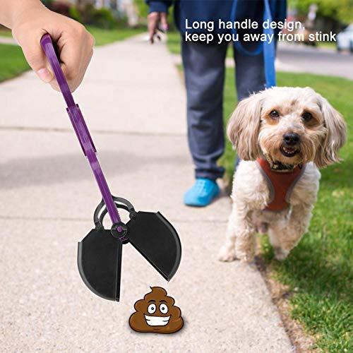 SALUTUYA Kunststoff, Entferner für Haustierabfälle, geeignet für Gras und Kies, Hundehundewerkzeug(Purple)