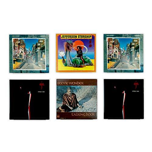 Hudson Hi-Fi LP Schallplatten-Wand-Display – 6 Stück – Präsentieren Sie Ihren täglichen Hörgenuss mit Stil – Clear Acrylic