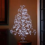 LIGHTSHARE 3ft Artificial Christmas Tree Light, Cold White Light for Home Garden Decoration,Winter,Wedding,Birthday,/Christmas,Holiday,Party Decoration,Silver