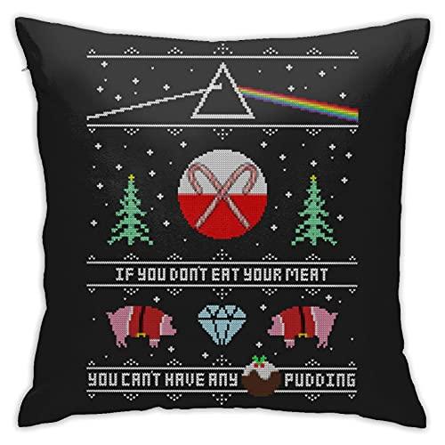 Hey Yule - Fundas de almohada de Navidad, color rosa