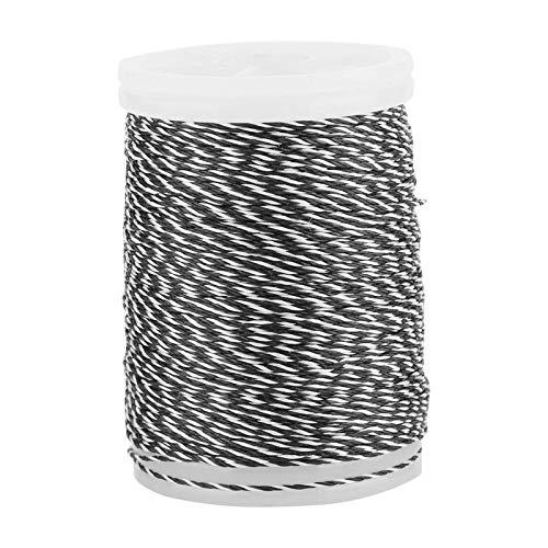 RENSHENKTO Arco durable de la secuencia de nylon del hilo de la porción del arco para el arco de las fuentes blanco negro blanco y negro