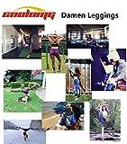 COOLOMG Damen Sport Leggings Yoga Hosen-Fitnesshose, B-schwarz- weiß (Capri), Gr.-M - 8