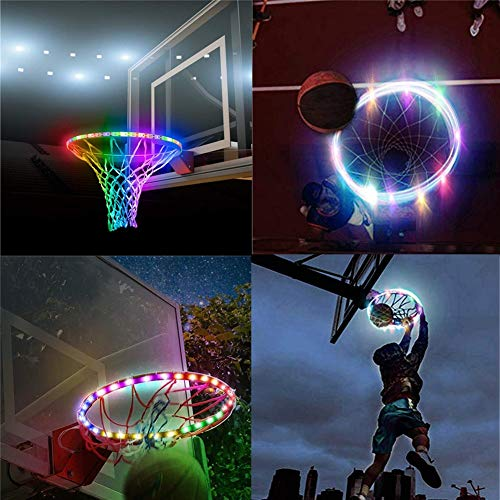 Cys LED Lights Basketball Rim, outdoor, basketbal, Rim, LED, zonnelicht, lichtstrip, LED, inductie, creatief, LED basketbal Hoop Lights Up Basketball Rim LED Swish