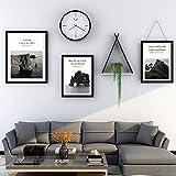 Set de 3 Marcos de Marcos de Foto Multiples,Uno 42.5x52.5cm, Dos 32.5x45.5cm,Negro Madera Maciza Adornos Salon Moderno para Encimera, Encimera, Exhibición de Mesa, Estantería, Escritorio, Decoración