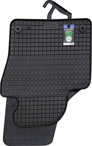 PETEX Gummimatten passend für Tiguan ab 10/2007-03/2016 Fußmatten schwarz 4-teilig