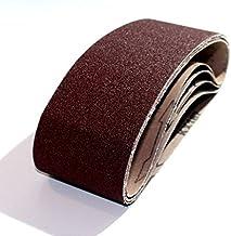 5 stuks weefsel-schuurbanden 75 x 533, voor bandschuurmachines - korrel 120 / schuurpapier/schuurbanden