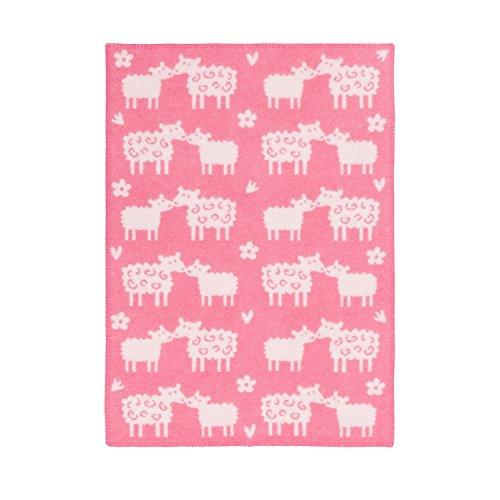 Klippan Baa Classic Überwurf und Decken, Rosa, 90 x 65 x 0,5 cm