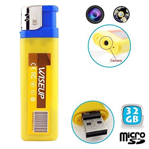 Yonis - Briquet Camera Espion Mini Appareil Photo Usb Micro Sd 32Go