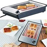 Rosenstein & Söhne Tostapane per panini: Tostapane piatto per un massimo di 4 rotoli, 3 elementi riscaldanti, Timer, 600 watt (Tostapane)
