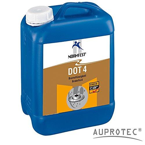 AUPROTEC High Tech Bremsflüssigkeit DOT4 Brake Fluid Bremsöl für ABS ESP geeignet 5 Liter