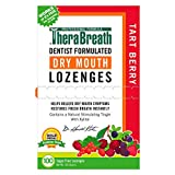 TheraBreath Dry Mouth Lozenges with ZINC, Tart Berry Flavor, 100 Lozenges