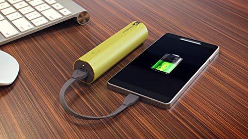 GP Batteries draagbare powerbank opladers (2600 mAh, 1,2 A uitgang en 1 A ingang, metalen behuizing) 2600mAh groen