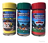 Caribbean Fusion - 3pk bundle Gourmet Spices and seasoning set Excellent for Meat, Poultry, Pork, Ribs, Steak Vegetables, Burgers, bbq, Jerk, Fish Grilling Rub, All purpose, Fish and Jerk Seasoning