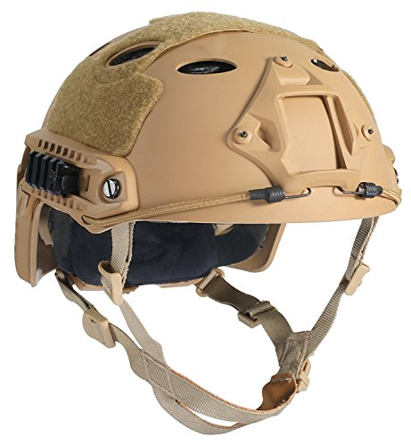 DLP Tactical Impax Extreme Fast Bump Helmet with Accessory Mounts - Tan