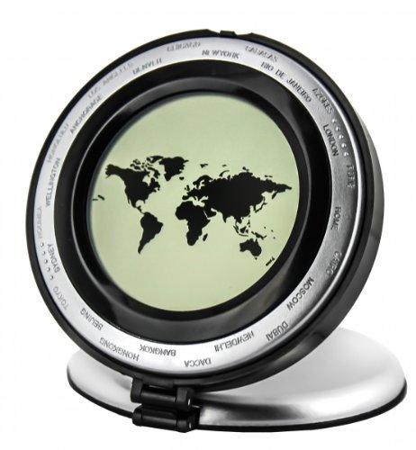 LCD Reisewecker Klappwecker mit Weltzeit