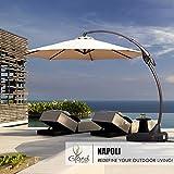 Grand patio Deluxe 11 FT Curvy Aluminum Offset Umbrella