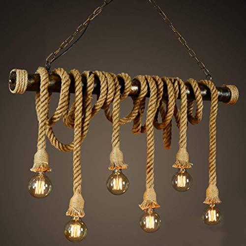 Vintage plafondlamp touw kroonluchter hanglamp industriële E27 stekker voor huis loft woonkamer bar restaurants café club decoratie