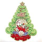 Marked Memorial Christmas Ornament 2020, Santa Claus Christmas Tree Sticker, 2 Pieces