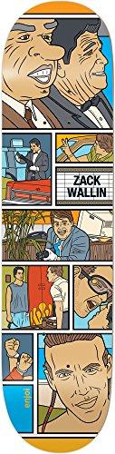 Enjoi 10017681Film Night Zack Wallin Skateboard Deck, 8,25