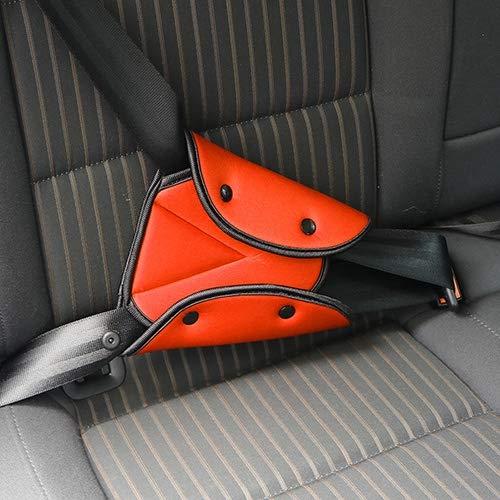 Luoshan Pinzas for el cinturón Almohadilla del Asiento Coche de Seguridad Robusta Cubierta de la Correa Ajustable del Asiento Triángulo de Seguridad de Protección Infantil (Rojo) (Color : Orange)