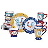 Certified International Morning Bloom 16 Piece Dinnerware Set, Service for 4, Multicolored