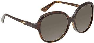 Gucci Women's Sunglasses Oversized GG0489SA Brown