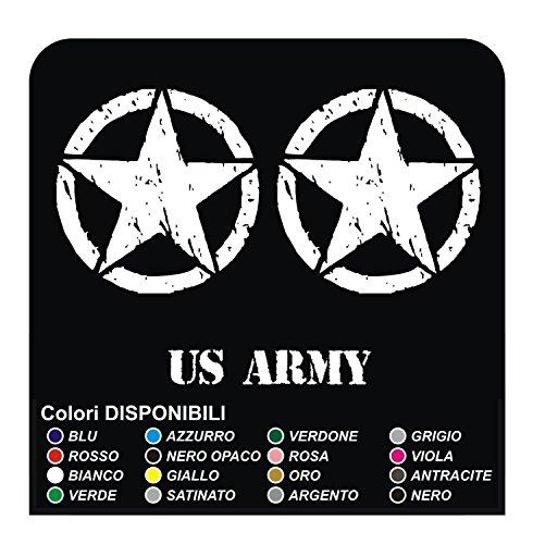 GRAFIC 3 Autocollants ÉTOILE + US Army pour Moto Custom étoile Militaire stockers Decals (Autre Couleur (Contactez-Nous))