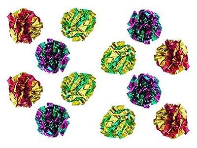 PETFAVORITES Original Mylar Crinkle Balls Cat Toys - 12 Pack from PETFAVORITES