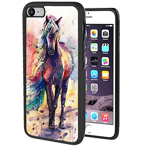 Animal Horse Watercolor Case Fits for iPhone SE (2020) [4.7-Inch]