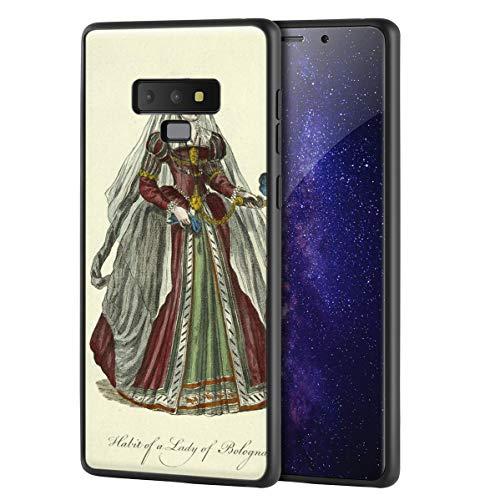 Berkin Arts Thomas Jefferys Custodia per Samsung Galaxy Note 9/Custodia per Cellulare Art/Stampa giclée UV sulla Cover del Telefono(Habit of A Dama Or Bologna Bolonge)