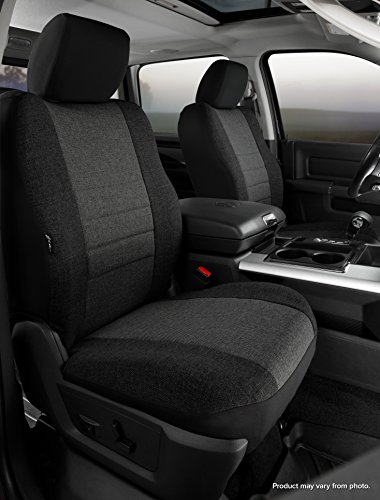 Poly-Cotton, Black Fia SP82-94 BLACK Custom Fit Rear Seat Cover Split Seat 60//40
