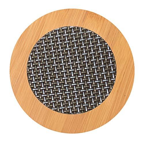 Bamboo PVC Weave Placemats Non-Slip Kitchen Table Mats17 cm (Naturfärg)