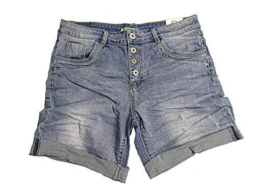 Karostar by Lexxury Damen Baggy Boyfriend Stretch Shorts Bermuda Hose Jeans Denim XL-42