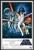 Star Wars - Orange Sword Of Darth Vader - Filmposter, schwarzer Rahmen mit Acrylglas