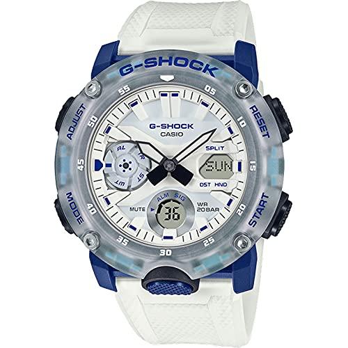 G-Shock Reloj Hidden Coast Color Series para hombre, transparente/blanco