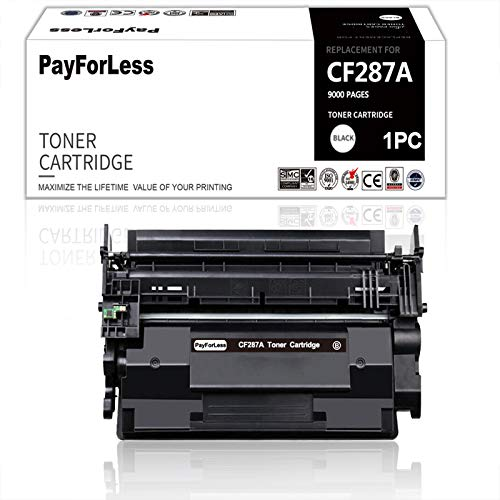 PayForLess for HP 87A CF287A Toner for HP Laserjet Enterprise M506 M506n M506x M506dn MFP M527 M501dn M501n Laserjet M506 (87X CF287X)