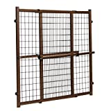 Evenflo Position & Lock Tall & Wide Baby Gate, Pressure-Mounted, Farmhouse Collection