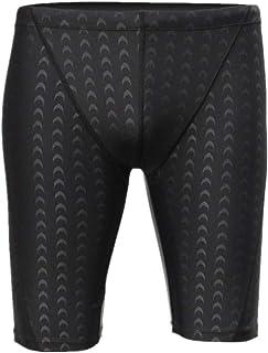Men Swimwear Black Shark Skin Men's Swimming Trunks Quick Dry Mens Swimming Shorts Adjustable Waist Mature Man Swimwear