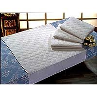 Empapador Superabsorbente Impermeable Transpirable 5 capas. Algodón (Blanco, 90X85 cm.)