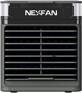 Bedler Refrigerador de Aire portátil Aire Acondicionado USB de 3 velocidades 7 LED Luz Refrigeración/Humidificación del Aire/Purificación del Aire/Aromaterapia Ventilador de enfriamiento 4 en 1 para