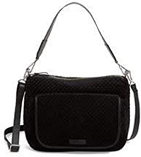 Vera Bradley Carson Shoulder Bag in Black Velvet