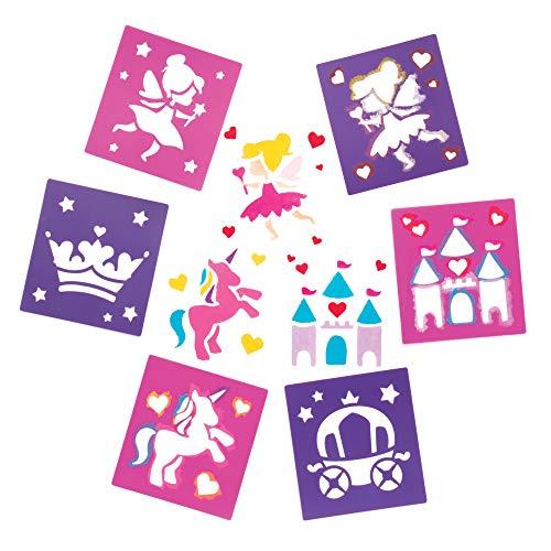 Baker Ross Elf Prinzessin Schablonen für Kunsthandwerk - Neuheit Spielzeug für Kinder, perfekte Party, Beute oder Grabbelsack (Packung mit 6) AR939 Sortiert