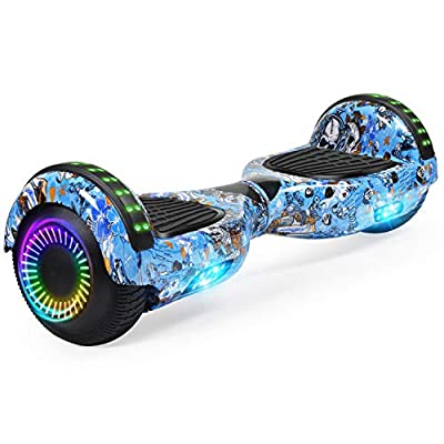 "FLYING-ANT Hoverboard w/Bluetooth Self Balancing Scooter 6.5"" Two LED Light Wheels UL2272 Certified Outdoor Sports Easy to Begin Favorite Pick for Adult Children"