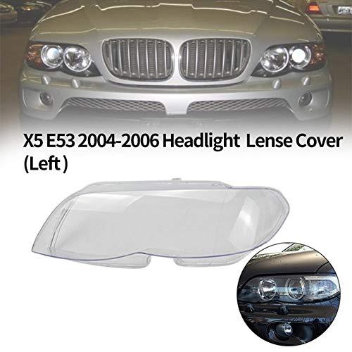 Preisvergleich Produktbild Auto Klar Scheinwerfer Objektivabdeckung 1Pcs Auto-Scheinwerfer-Kopf-Licht-Lampen-Objektiv-Raum-Objektiv-Abdeckung Fit For BMW X5 E53 2004-2006 Scheinwerfer Objektivdeckel (LINKS) ( Color : Left )