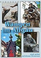 Wangen im Allgaeu und seine schoenen Brunnen (Tischkalender 2022 DIN A5 hoch): Historische und neuzeitliche Figurenbrunnen schmuecken die Altstadt (Monatskalender, 14 Seiten )