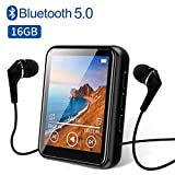 "MP3 Player, Bluetooth 5.0 MP3 Players with 1.8"" Full Touch Screen, 16GB HiFi"
