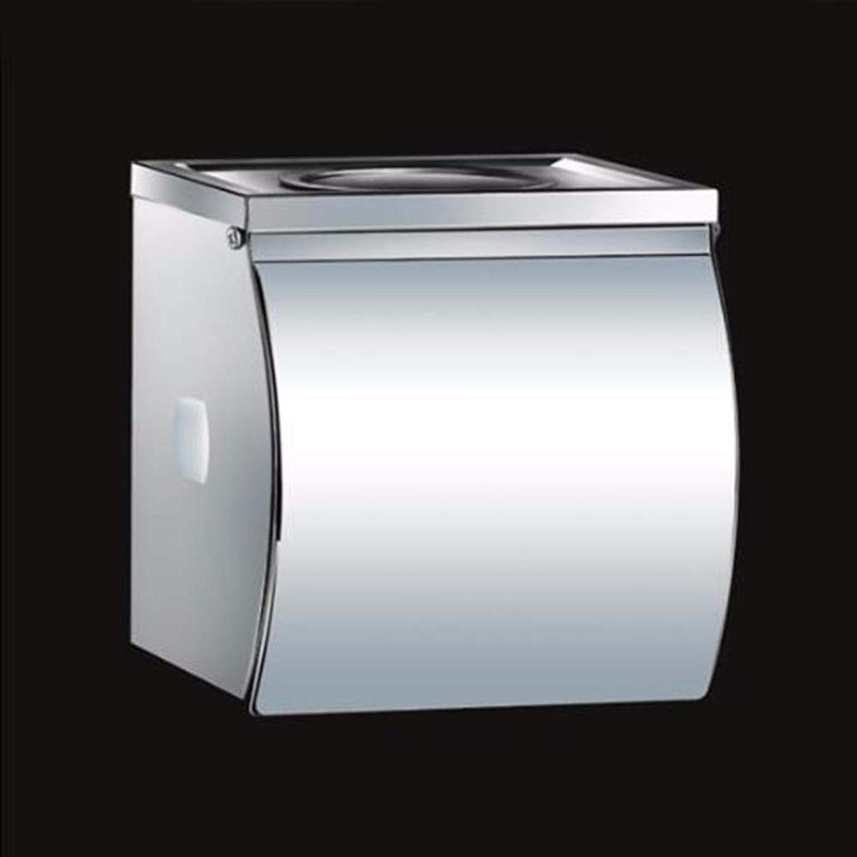 LuckyNO.1 Caja de Pauelos Caja de Papel higiénico cenicero cinturón de Acero Inoxidable Titular de Toalla de Papel Mano Impermeable cartón de Papel