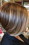 LaaVoo 10 Pulgadas Remy Wigs Lace Front Bob Human Hair 130% Parte Libre Pelucas Mujer de...
