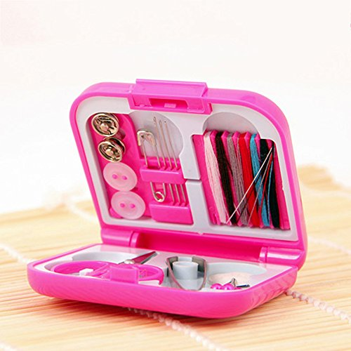 Sewing & Embroidery Machine 2017 New Arrivel Portable Travel Sewing Kits Box Mini Needle Threads Buttons Scissor Thimble Portable Home Tools Travel Set z1024