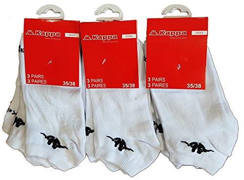 Kappa Calcetines cortos para hombre 9 Pares